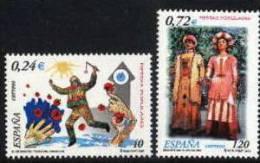ESPAÑA 2001 - FIESTAS POPULARES - GIGANTES DE BARCELONA Y CIPOTEGATO DE TARAZONA - Edifil Nº 3806-3807 - 2001-10 Unused Stamps