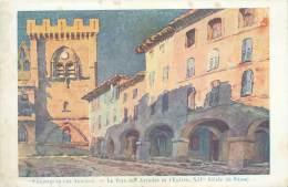 30 - VILLENEUVE-LEZ-AVIGNON - La Rue Des Arcades Et L'Eglise - Villeneuve-lès-Avignon