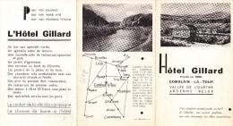 Hôtel Gillard -  Fondé En 1898 - COMBLAIN-la-TOUR - Vallée De L'Ourthe - Ardenne Belge (Dépliant Publicitaire) - Old Paper