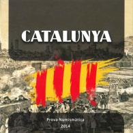 VERY RARE!!!  CATALUNYA (Republic Of CATALONIA) Set Numismatico/Cartera 8 EURO Monedas/Coins 2.014 SC/UNC  T-DL-11.057 - Espagne