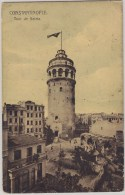 "Turkey Turquie Türkiye Postcard Constantinople ""Tour De Galata"" - Turquia"