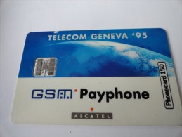 VERY RARE : GSM PAYPHONE ALCATEL SPECIMEN (TELECOM GENEVA)
