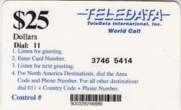 BOSNIA - Teledata International Remote Memory Card $25(used By U.N. Personnei In Bosnia), Used - Bosnia