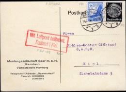 CARTE POSTALE 1936 - POSTEE A HAMBOURG - ECRIT ET PROPRE - - Allemagne