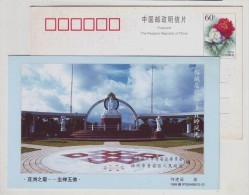 Meditation Jade Buddha,China 1999 Beiling Landscape Advertising Pre-stamped Card - Buddhism