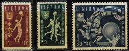3586. Lithuania #B52-54 Comp. Set 1939 MNH OG