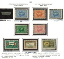 3587. Lithuania #C1-20 Comp. Set 1921-22 MLH OG/Used(C8-14)