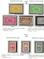 3594. Lithuania #C32-39(xC35) 1924-26 MLH OG