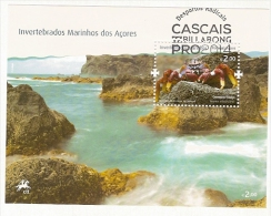 Portugal & Invertebrados Marinhos Dos Açores, Carangueijo Fidalgo 2010 - Blokken & Velletjes