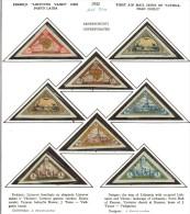 3599. Lithuania #C47-54 Comp. Set  Imperf. 1932 MLH  OG