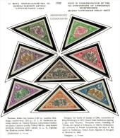 3601. Lithuania #C55-62 Comp. Set  Imperf. 1932 MLH OG