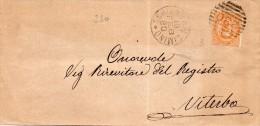 1880   LETTERA CON ANNULLO SORIANO NEL CIMINO  VITERBO - 1878-00 Umberto I