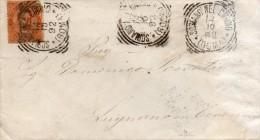 1892   LETTERA CON ANNULLO SORIANO NEL CIMINO  VITERBO - 1878-00 Umberto I