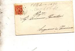 1890   LETTERA CON ANNULLO SORIANO NEL CIMINO  ROMA - 1878-00 Umberto I