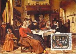 LUXEMBOURG  CARTE  MAXIMUM  NUM-YVERT  1052 PEINTURE  JEAN STEEN - Maximum Cards