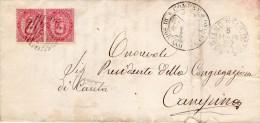 1892   LETTERA CON ANNULLO SORIANO NEL CIMINO  ROMA - 1878-00 Umberto I