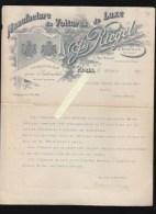 Carrosserie Pour Automobiles, Voitures Pour Attelage -  Documents J.Riegel, Rue Brunel Paris - Non Classés