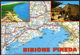 Landkarte Italien - Bibione Und Umgebung - Gelaufen - Landkarten