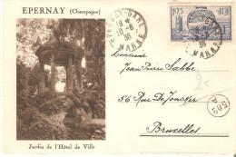 Epernay - Cpa Avec Des Photos à Deux Côtés - 1938 - Epernay