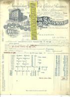 Italie - TURIN - Facture Victor SIGISMONDI - Manufacture De Crins Et Racines – 1924 - REF 132 - Italie