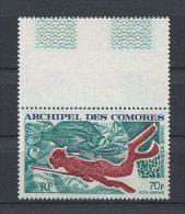 Comores 1972 PA N° 44 ** Neuf  = MNH. Superbe Cote: 10 € Sport Chasse Sous Marine Plongée - Posta Aerea