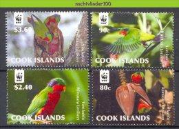 Nbx465s WWF FAUNA VOGELS RIMATARA LORIKEET RUBINLORI BIRDS VÖGEL AVES OISEAUX COOK ISLANDS 2010 PF/MNH - W.W.F.