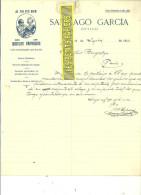Espagne - MADRID - Facture SANTIAGO GARCIA - Optique – 1914 - REF 132 - Italie