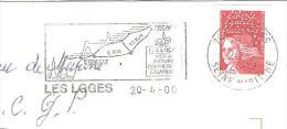CACHET OBLITERATION FLAMME LES LOGES ETRETAT FECAMP ENVELOPPE 16X11 - 1961-....