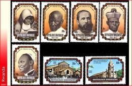 Rwanda 0730/36** Eglise catholique  MNH