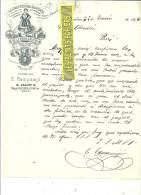 Espagne - BARCELONA - Facture C. CAMPMAJO (représentant) - Fabrique De Tabac – 1898 - REF 132 - Italie