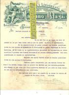 Espagne - BARCELONA - Facture Mariano BLASI - Imprimerie Et Lithographie – 1908 - REF 132 - Italia