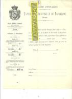 Espagne - BARCELONA - Facture Royaume D'ESPAGNE - Exposition Universelle De Barcelone – 188? - REF 132 - Italia