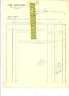 Espagne - SAN JORGE - Facture José RONCHERAS - Exportation De Vins – 1927 - REF 132 - Italie