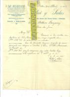Espagne - REUS - Facture OLIVE  Y SALAS - Optique – 1907 - REF 132 - Italia