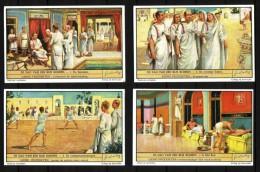 LIEBIG  - 6 Chromos - N° S 1466 - NL - De Dag Van Een Rijk Romein - Vie Journalière D'un Riche Romain - 2 Scans. - Liebig
