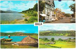 Bala:AUSTIN GLIDER, MORRIS MINOR, FORD VAN, MERCEDES HECK - Lake Celyn Reservoir, Dee Bridge, Highstreet,Lake - (Wales) - PKW