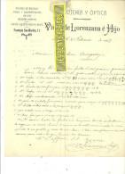 Espagne - LEON - Facture Viuda De LORENZANA é HIJO - Optique – 1907 - REF 132 - Italie
