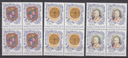 PGL BT180 - VATICANO SASSONE N°635/37 ** QUARTINE - Vatican