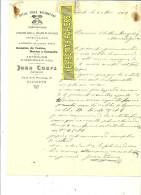 Espagne - ALICANTE - Facture Juan COURS - Optique – 1909 - REF 132 - Italia