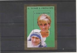 LADY DIANA + MERE TERESA  BLOC NEUF SAO TOME  SUPERBE - Mutter Teresa