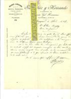 Espagne - TARAGOZA - Facture SAMPERIZ Y HERRANDO - Quincaillerie – 1907 - REF 132 - Italia