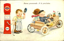 ILLUSTRATEUR ENFANTS VOITURE A PEDALE SIGNEE JOHN NILLS - Künstlerkarten