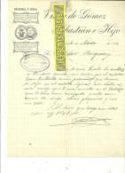 Espagne - SALAMANCA - Facture Viuda De GOMEZ SEBASTIAN E Hijo - Optique – 1914 - REF 132 - Italie