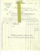 Espagne - JEREZ-DE-LA-FRONTERA - Facture Diez HERNANOS - Vins – 1921 - REF 132 - Italie