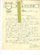 Espagne - ALCOY - Facture P. AULUS - Optique – 1914 - REF 132 - Italie