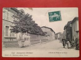 26 Drome ANNEYRON L'Ecole De Filles Et La Route - Frankrijk