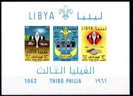 1962, Royaume Libya, Scouts Non Dentelé, Y&T Bloc No. 4 , Neuf **, Voir Scan, Lot 42397 - Neufs