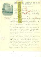 Belgique - LIEGE - Facture N. WISER - Hôtel Du Chemin De Fer – 1904 - REF 132 - Italia