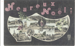 CARTE POSTALE      HEUREUX NOEL    LYON - Noël