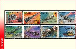 Rwanda 0838/45*  Wernher von Braun surcharges  H